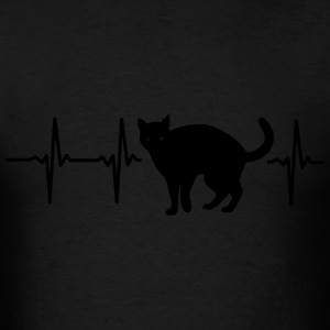 MY HEART BEATS FOR CATS! Bags & backpacks - Men's T-Shirt