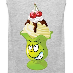 Funny ice cream cartoon expression T-Shirts - Men's Premium Tank
