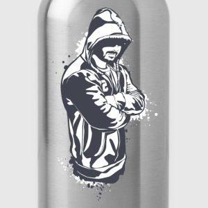 Hoody gangster design T-Shirts - Water Bottle