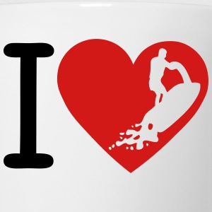 love jet ski freestyle heart Long Sleeve Shirts - Coffee/Tea Mug