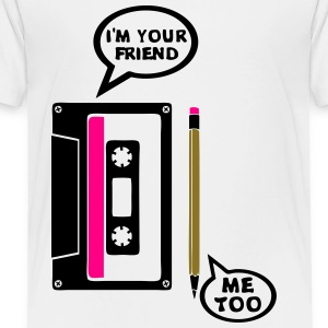k7 gray pencil audio cassette wood my Kids' Shirts - Toddler Premium T-Shirt