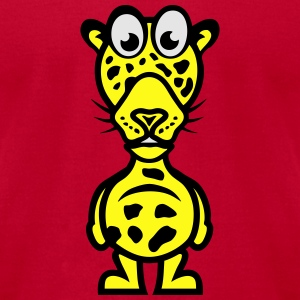 leopards funny character animal cartoon Long Sleeve Shirts - Men's T-Shirt by American Apparel