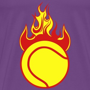 fire flame tennis ball 1110 Tanks - Men's Premium T-Shirt