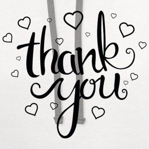 Thank You - Contrast Hoodie