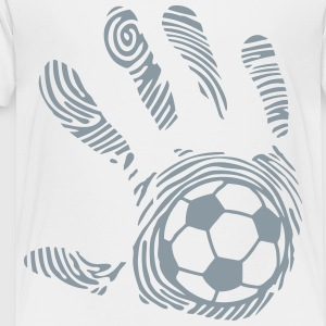 soccer hand imprint 8_1110 Kids' Shirts - Toddler Premium T-Shirt