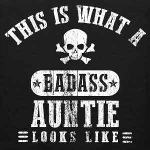 Badass Auntie Looks Like Women's T-Shirts - Men's Premium Tank