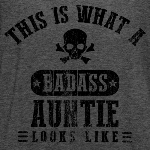 Badass Auntie Looks Like Women's T-Shirts - Women's Flowy Tank Top by Bella