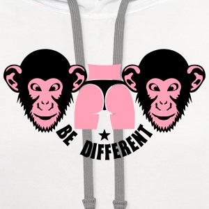 monkey be different sexy ass buttock T-Shirts - Contrast Hoodie