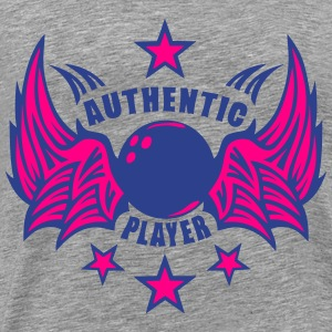 authentic bowling ball player 1107 Long Sleeve Shirts - Men's Premium T-Shirt
