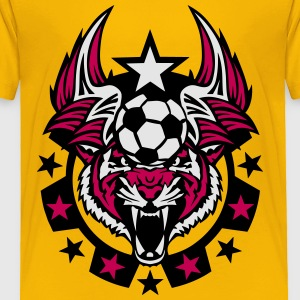 soccer ball tiger logo sport 1107 Kids' Shirts - Toddler Premium T-Shirt