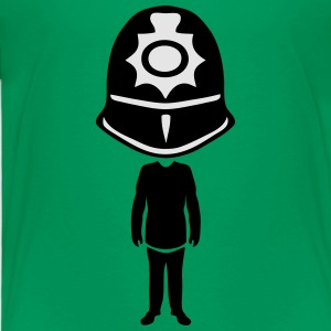 english bobby helmet policeman Kids' Shirts - Toddler Premium T-Shirt