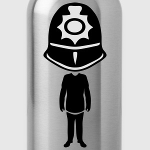 english bobby helmet policeman T-Shirts - Water Bottle