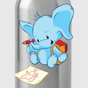 Cartoon elephant painting art - Water Bottle