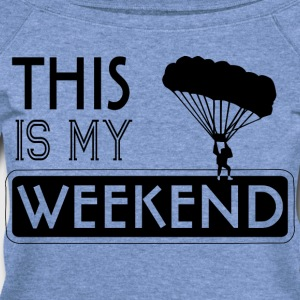 Weekend Paraglider T-Shirt - Women's Wideneck Sweatshirt