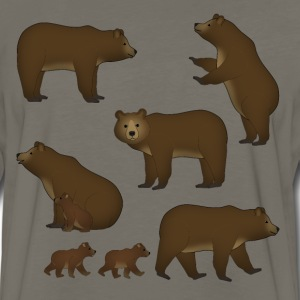 many bears T-Shirts - Men's Premium Long Sleeve T-Shirt