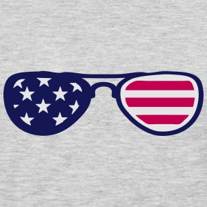sunglasses us flag 18 T-Shirts - Men's Premium Long Sleeve T-Shirt