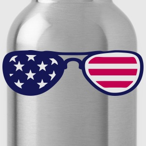 sunglasses us flag 18 Kids' Shirts - Water Bottle