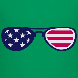 sunglasses us flag 18 Kids' Shirts - Toddler Premium T-Shirt