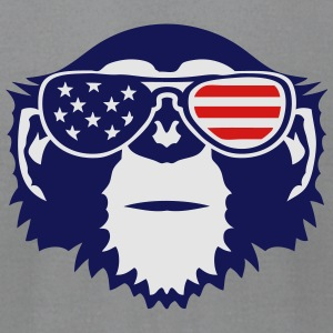 monkey bezel color american flag sun Long Sleeve Shirts - Men's T-Shirt by American Apparel