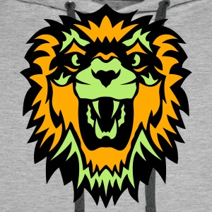 wild animals lion king head  1009 T-Shirts - Men's Premium Hoodie