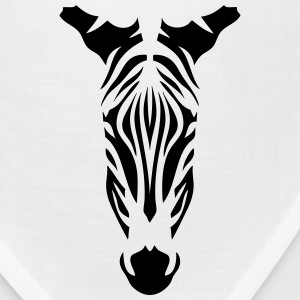 10094 wild animals zebra head Kids' Shirts - Bandana