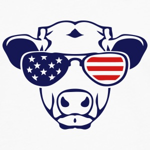 american flag cow colored sun glasses Kids' Shirts - Men's Premium Long Sleeve T-Shirt