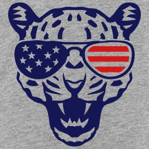 leopard head bezel american flag colored Kids' Shirts - Toddler Premium T-Shirt
