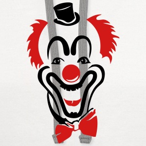 red clown nose hat bowtie Long Sleeve Shirts - Contrast Hoodie