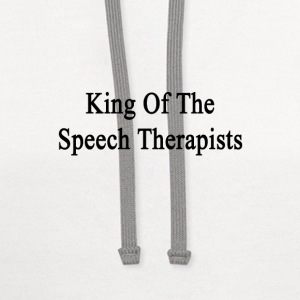 king_of_the_speech_therapists T-Shirts - Contrast Hoodie