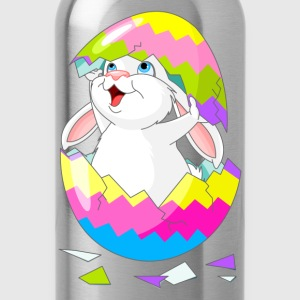 Cartoon bunny with egg - Water Bottle