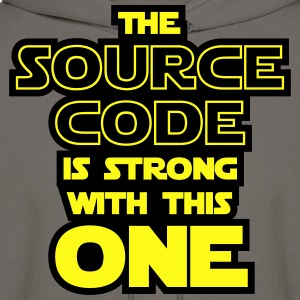 THE SOURCE CODE IS STRONG WITH THIS ONE T-Shirts - Men's Hoodie
