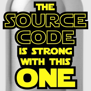 THE SOURCE CODE IS STRONG WITH THIS ONE T-Shirts - Water Bottle