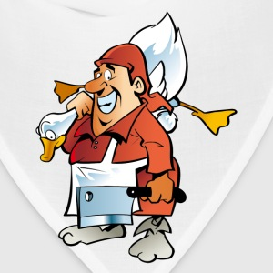 Santa with goose and knife T-Shirts - Bandana