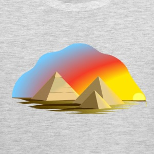 Egypt pyramid abstract art T-Shirts - Men's Premium Tank