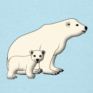 mother polar bear and baby Baby Bodysuits - Men's T-Shirt