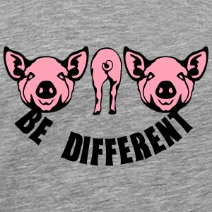 be different pig Long Sleeve Shirts - Men's Premium T-Shirt