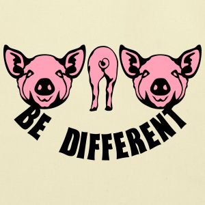be different pig T-Shirts - Eco-Friendly Cotton Tote