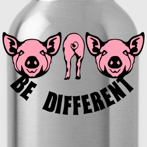 be different pig Long Sleeve Shirts - Water Bottle