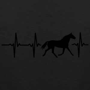 I LOVE HORSES! MY HEART BEATS FOR HORSES! Baby & Toddler Shirts - Men's Premium Tank