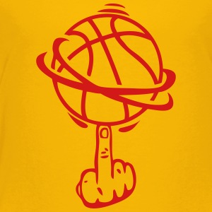 basketball finger fuck finger rotates Kids' Shirts - Toddler Premium T-Shirt