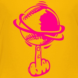 baseball finger fuck rotates turn Kids' Shirts - Toddler Premium T-Shirt