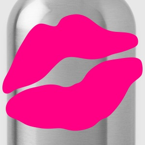lip mouth kisses 1003 T-Shirts - Water Bottle