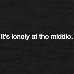 lonely at the middle Mugs & Drinkware - Men's T-Shirt