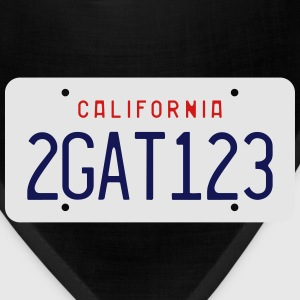 Retro 2GAT123 California License Plate T-shirt - Bandana