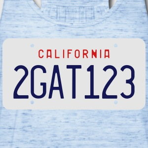 Retro 2GAT123 California License Plate T-shirt - Women's Flowy Tank Top by Bella