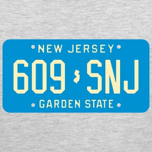 Retro New Jersey 609-SNJ license plate T-Shirt - Men's Premium Tank