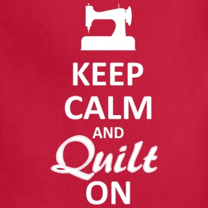 Keep Calm and Quilt on (White Digital) T-Shirts - Adjustable Apron