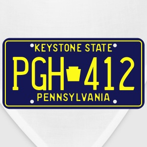 Retro Pennsylvania PGH-412 license plate T-Shirt - Bandana