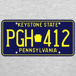 Retro Pennsylvania PGH-412 license plate T-Shirt - Men's Premium Tank