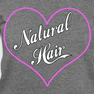 Love Natural Hair Heart - Women's Wideneck Sweatshirt